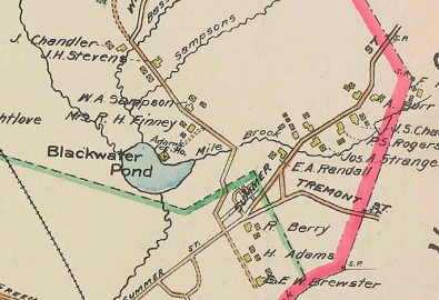 part of Kingston from a 1903 map