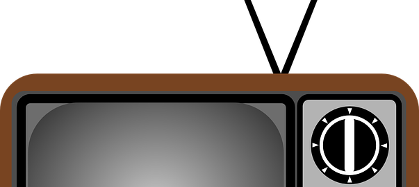 Clip art image - A television with antenna