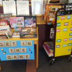 Board game display in the library