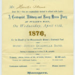 A Centennial, Military and Fancy Dress Party