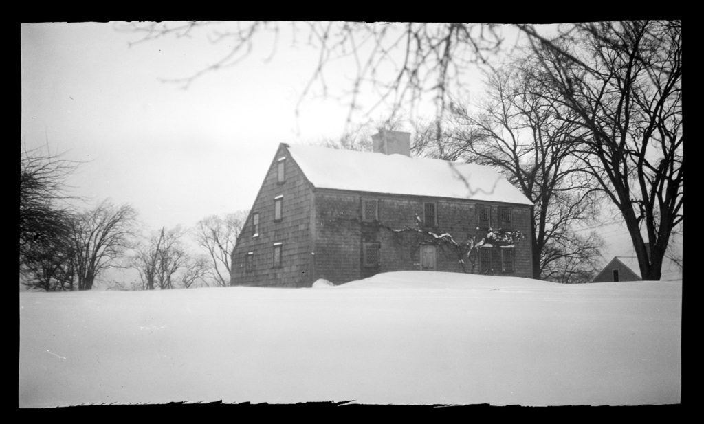 Major John Bradford House, in snow