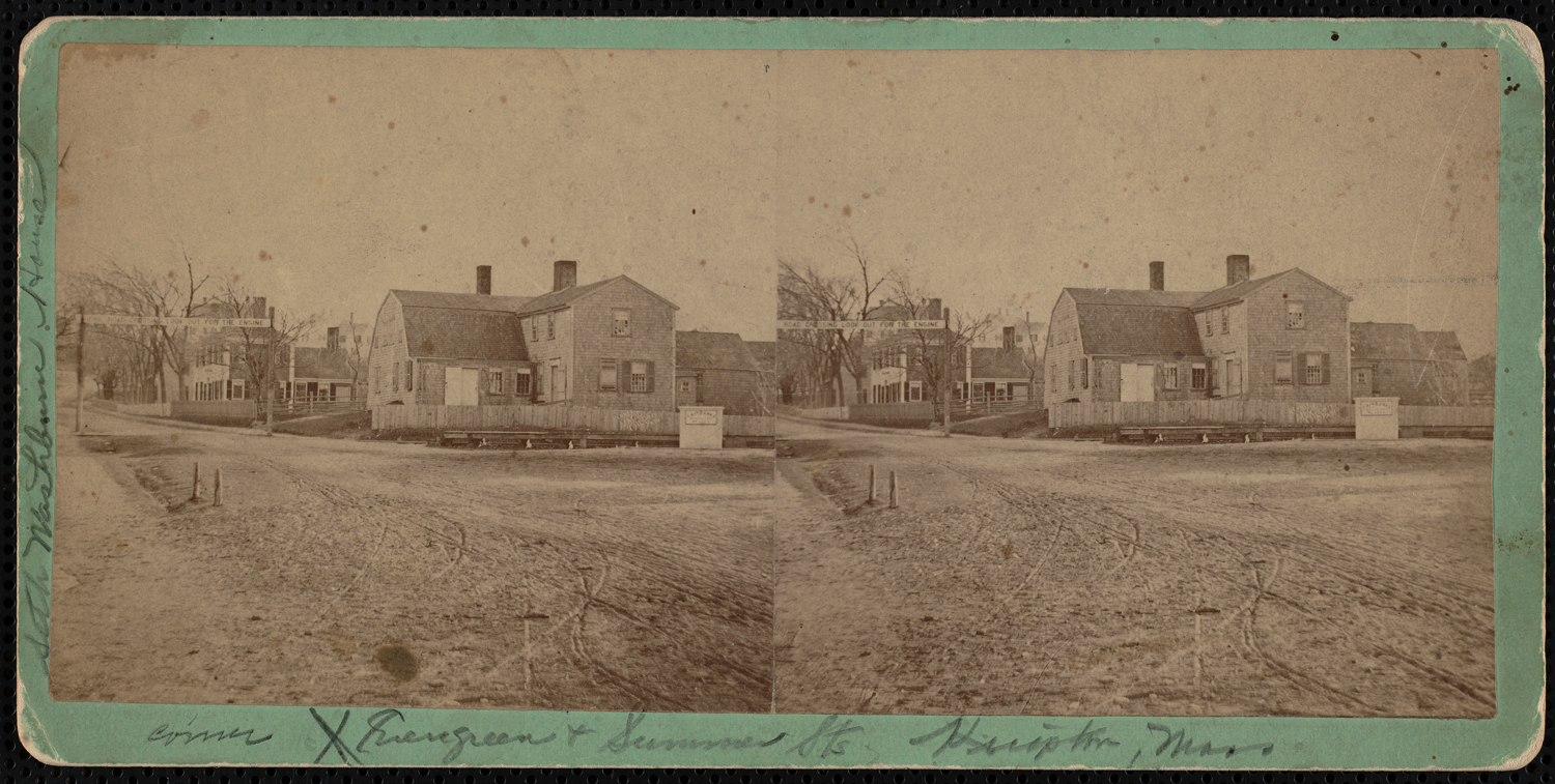 Seth Washburn House, corner of Evergreen and Summer Streets, c. 1865