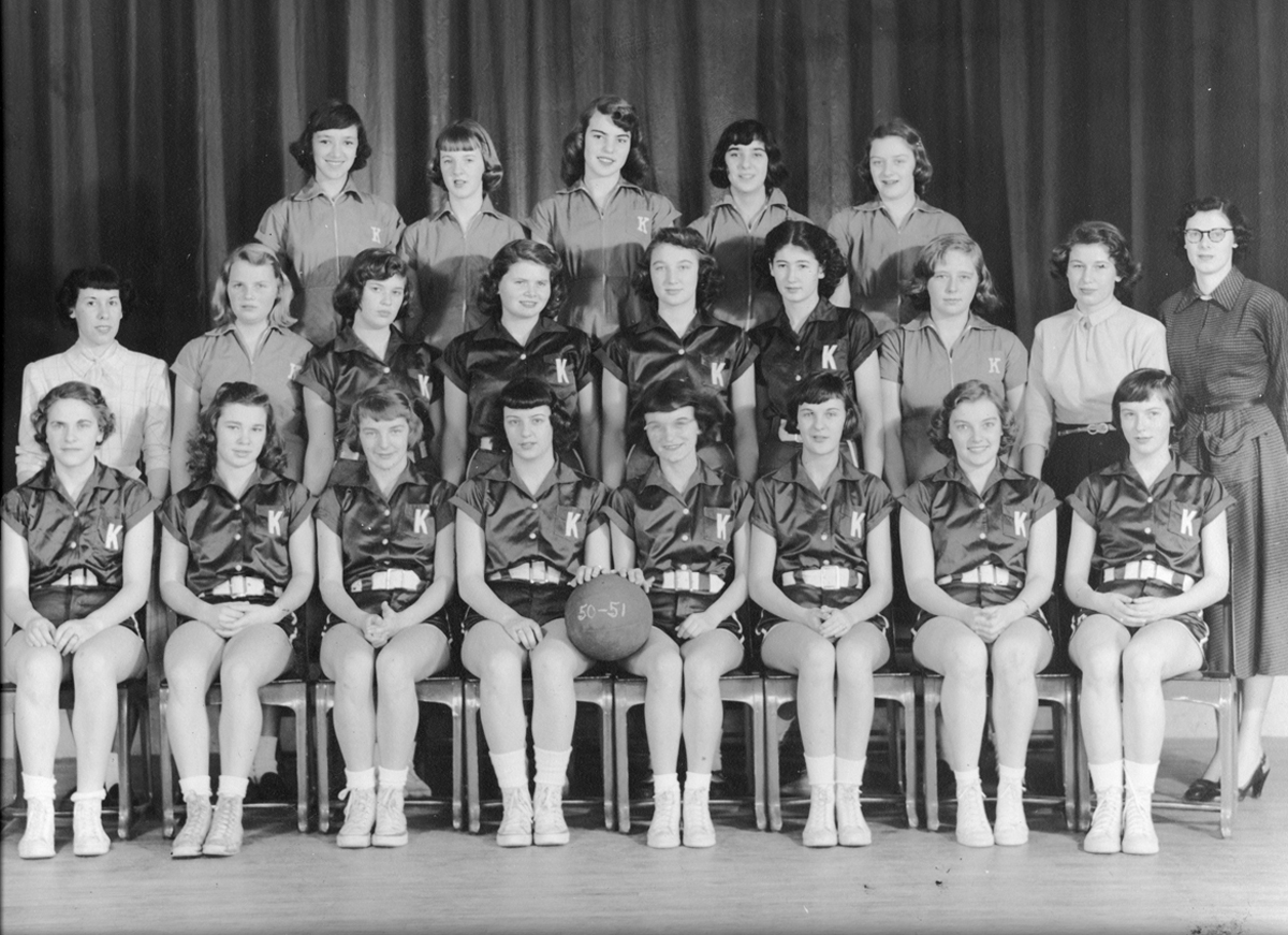 Kingston High School Girls' Basketball team, 1951