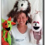 Leigh and 3 of her puppet friends