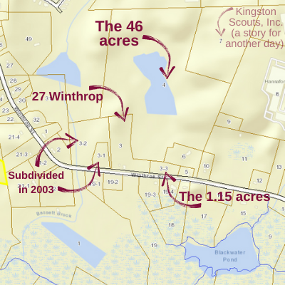 map detail of properties on Winthrop