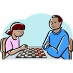 Giant Checkers Lawn Game