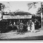Kingston Photo of people buying and selling produce at the Community Market, 1917