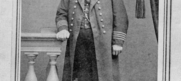 Standing portrait of Melvin Simmons, in uniform, 1864