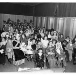 Children in Halloween costumes at the Kingston Elementary School in 1952