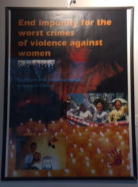 Poster of people protesting violence against women.