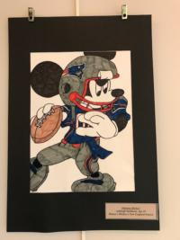 Micky Mouse in New England Patriots Uniform