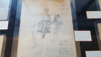 Drawing of a soldier on a horse