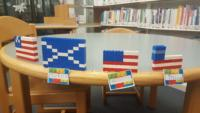 LEGO flags - USA and Greece
