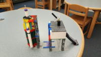 LEGO rocket and command and control bunker