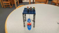 LEGO boat at refueling station