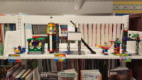 LEGO creations on display at the library