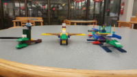 Three LEGO planes