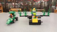 Two LEGO 4-wheel vehicles