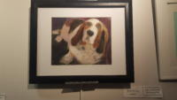 Painting of a beagle dog