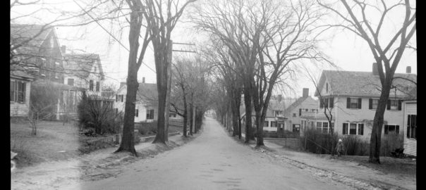 Houses on Summer Street, Kingston, in 1927